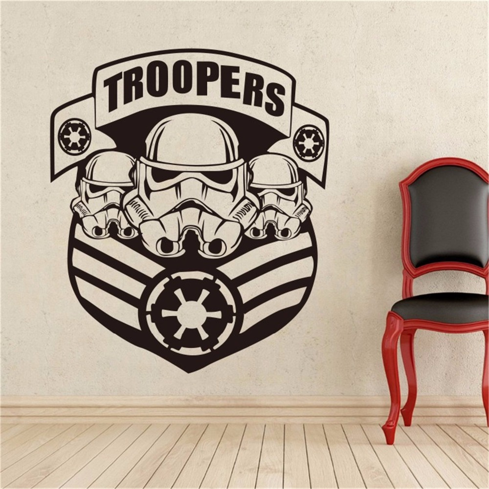 2017 stickers star wars military badge wall decal stormtrooper vinyl sticker galactic empire home interior decor