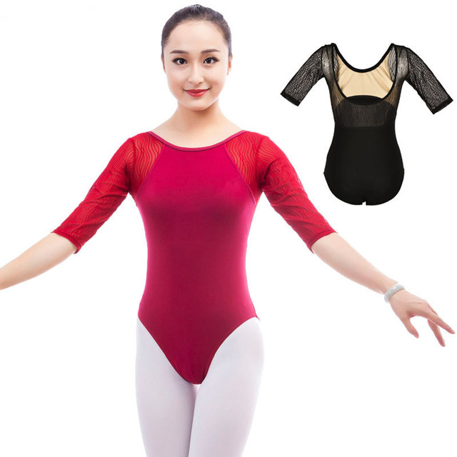 fe440fc2e8a4 New Ballet Leotard For Women Adult Mesh Dance Costumes Adult Dance Practice  Gymnastic Leotard Ladies Sexy Competition Jumpsuits
