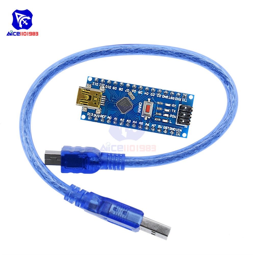 10set//lot Original Nano 3.0 atmega328 Mini Version FT232RL Imported Chips Support win7 Win8 for arduino with USB Cable