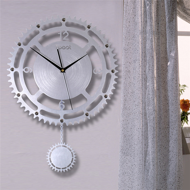Neue Digitale Wanduhr Getriebe Zahlen Pendeluhr Moderne Reloj Antiguo De  Pared Stille Wanduhr Decor Home Design
