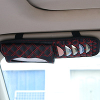 Two In One Paper Towel Draw Car Sun Visor CD Clip Red Wine Fashion Hot 2