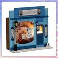13509 Hongda loja Marinha diy casa de boneca casa de bonecas em miniatura loja europeia luzes led de madeira frete grátis