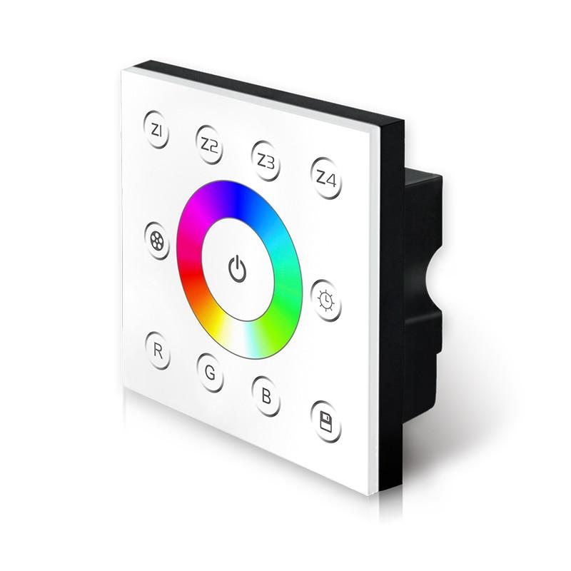 New P7 led DMX RGB Strip controller 4 Zones AC 85V-265V wall mount Touch panel 4 zones multi Led rgb strip DMX512 Controller цена