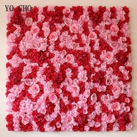 YO CHO 40X60CM Artificial Flower Wall With Portable Wedding Backdrop Stands For Wedding Decoration DIY Real Touch Flower Wall