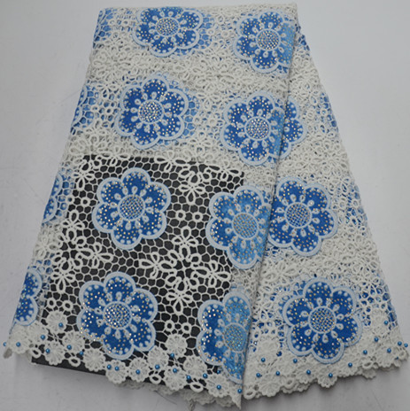 Hot sale latest african laces 2019 african cord lace fabric with stone high quality 5yard nigerian
