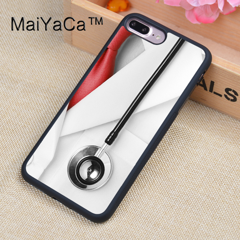 Phone Bags & Cases Fitted Cases Temperate Maiyaca Doctor Stethoscope Healthcare Full Covered Rubber Case For Apple Iphone 7 Plus 5.5 Inch Mobile Phone Back Cover Case Refreshing And Beneficial To The Eyes