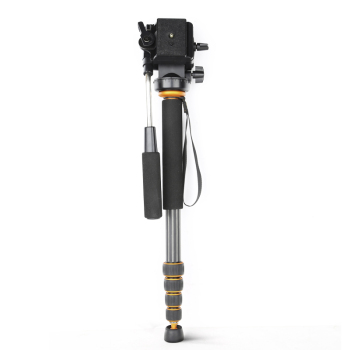 ФОТО QINGZHUANG Q188C Carbon fiber Camera monopod,portable professional DSLR monopod For Canon Eos Nikon DSLR, Max height is 1680mm