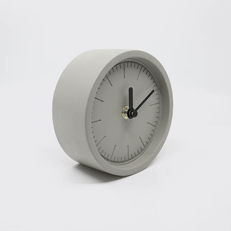 Concrete desktop clock mold creative clock ornaments home accessories cement desk clock silica gel mold