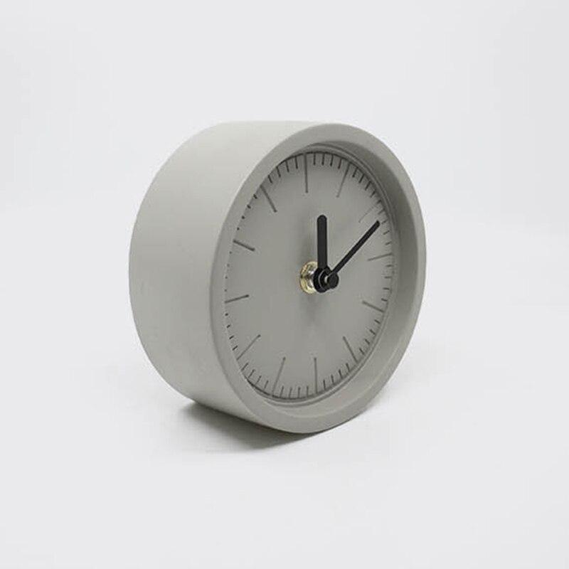 Concrete desktop clock mold creative clock ornaments home accessories cement desk clock silica gel mold-in Clay Molds from Home & Garden    1