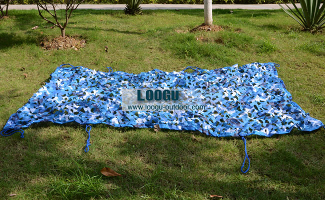 VILEAD 4M*5M Sea Blue Camo Netting Military Camo Netting Army Camouflage Jungle Net Shelter for Hunting Camping Sports Tent vilead 3m 4m sea blue camo netting