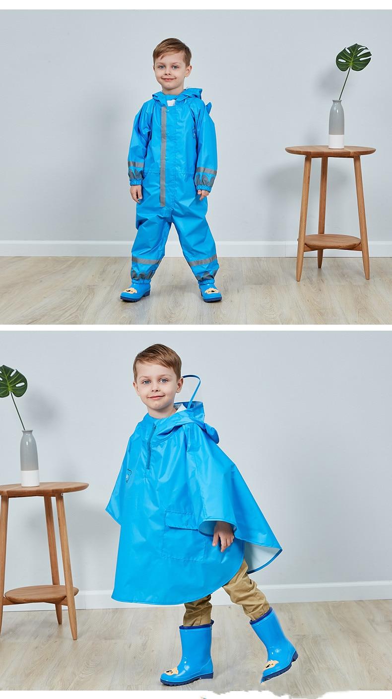 14.Rain Boots Kids for Boys Girls Rain Boots Waterproof Baby Non-slip Rubber Water Shoes Children four Seasons Rainboots