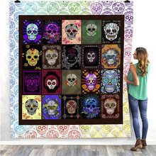 SOFTBATFY Skull All Season Quilt For Kids Adult Bed Soft Warm Blanket Dropshipping
