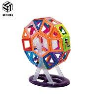68pcs MAG VARIETY DIY Plastic Mini Magnetic Building Blocks Construction Model Educational Enlighten Assembly Toys For Children