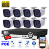 8CH CCTV Camera System 1080P POE IP Camera System 1TB HDD Security System Motion Detection HDMI