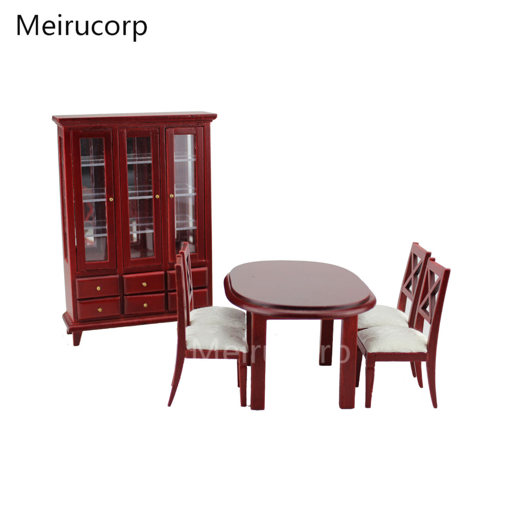 1 12th Scale Miniature Beautiful Admirable Excellent Hand Carved Dining Room Kit