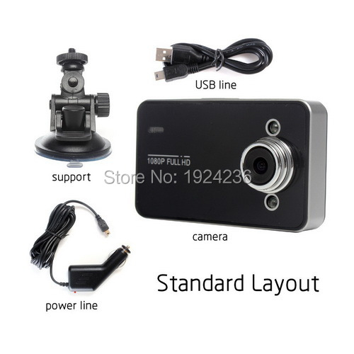 Fashion <font><b>Car</b></font> <font><b>DVR</b></font> Camcorder Camera recorder <font><b>K6000</b></font> Full HD With Night Vision Angle Lens with LCD Screen G-Sensor Motion Detection image