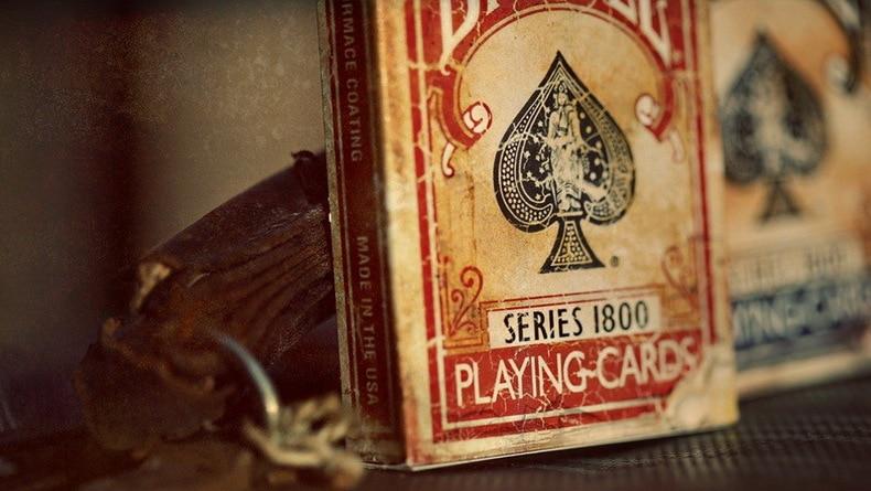 1pcs Bicycle Vintage Series 1800 Deck Blue / Red Magic Cards Poker - Juguetes clásicos - foto 2