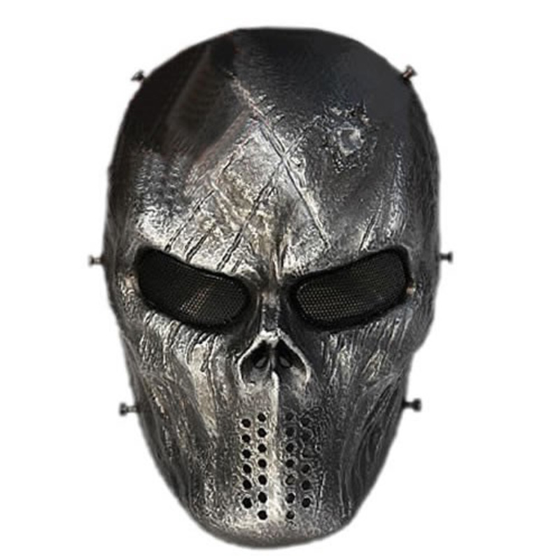 LumiParty Outdoor Full Face Protection Disguise Mask Skull Mask for Hunting Cs War Game  ...