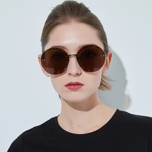 Retro Round-shaped Borderless Sun Glasses Eyeglass Hip Hop Clear Colored Lens Festival Fashion Overs