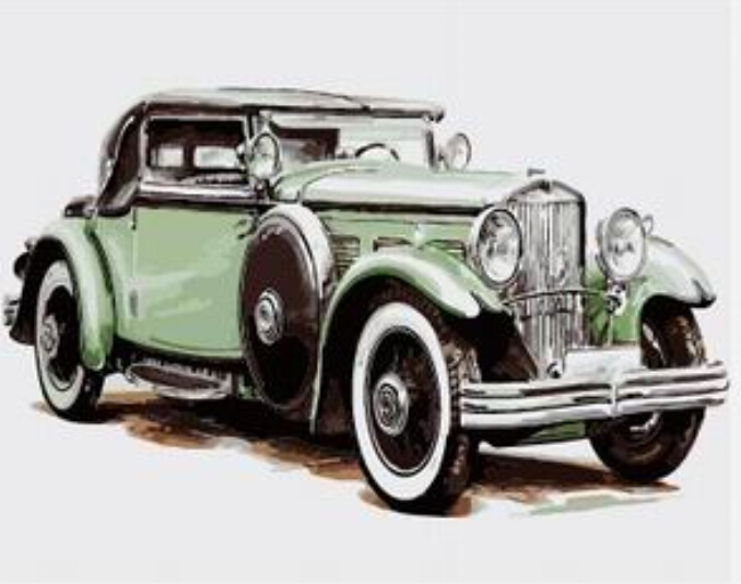 drawjoy framed pictures classic car diy painting by numbers painting calligraphy acrylic painting on canvas
