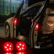 2pcs Magnetic Wireless LED Car Door Opening Warning Lights Waterproof Strobe Flashing Anti Rear end Collision