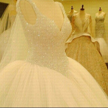 2020 Mới Sang Trọng Bling Bling Áo Cưới Tùy Chỉnh Làm Plus Kích Thước Cưới Cô Dâu Váy Đầm Vestido De Noiva