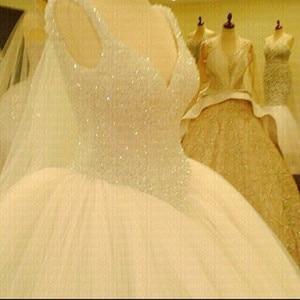 Image 1 - 2020 New Luxury Bling Bling Wedding Dress Custom made Plus Size Bride Wedding Gown Vestido De Noiva