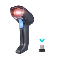 2 4G Wireless Cordless Handheld 1D 2D QR Barcode Bar Code Scanner Reader With Receiver USB2