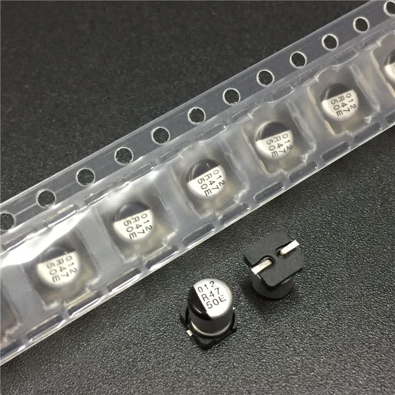 20pcs 0.47uF 50V NACE Series 4x5.5mm 50V0.47uF Chip Type SMD Audio Electrolytic Capacitor