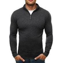 Mens Knitted High Neck Pullover Solid Sweater Loose Turtleneck Tops B16