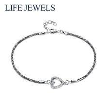 Женский браслет из стерлингового серебра 925 пробы с цирконием