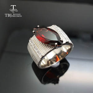 ring with natural gemstone in 925 sterling silver for men's