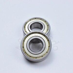 Image 2 - 6202ZZ 15*35*11 (mm) 10 pezzi spedizione gratuita cuscinetto ABEC 5 10 Pezzo di chiusura in metallo di cuscinetti 6202 6202Z 6202ZZ in acciaio cromato cuscinetto