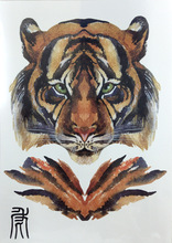 The Twelve Zodiac Mighty Tiger Body Art Beauty Makeup Waterproof Temporary Tattoo Stickers