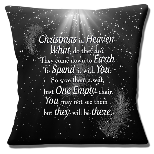 christmas xmas gift christmas in heaven quote cushion cover christmas in heaven what do they do throw pillow case xmas decor 18 in cushion cover from home