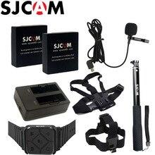 SJCAM SJ6 Légende Batterie Selfie Bâton Manfrotto Poignet À Distance Double Chargeur Tête Sangle Pour SJ CAM SJ6 D'action Caméra Accessoires