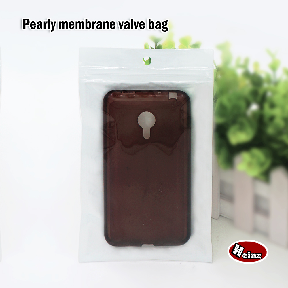 9 12cm Translucent white pearly membrane valve bag Accessories Mobile phone shell Food Ornaments bags Spot 100 package in Storage Bags from Home Garden