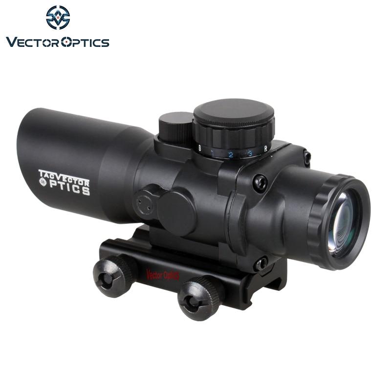 Vector Optics Talos 4x32 Tactical Compact Riflescope Prism Sight Tri-Illumination Chevron Reticle M4 AR15 .223 Scope