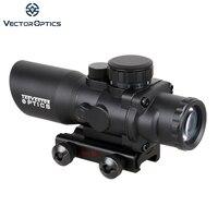 Vector Optics Talos 4x32 Tactical Compact Riflescope Prism Sight Tri Illumination Chevron Reticle M4 AR15 .223 Scope