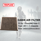 Pollen Cabin Filter for Chevrolet Aveo II (2011-Onwards) 1pc,Activated High Carbon Pollen Filters, Better than Original Filters