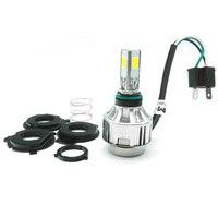 1 Set H4 BA20D 34W LED Hi Lo Beam Motorcycle Headlight Front Light Lamp Bulb 6500K