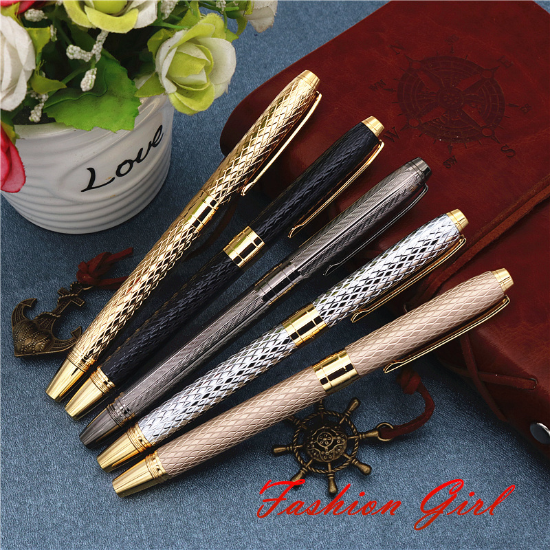 Girl new style fountain pen Office writing gifts New concept wavy texture ink pen 4 colors can choose with or without gift boxesGirl new style fountain pen Office writing gifts New concept wavy texture ink pen 4 colors can choose with or without gift boxes