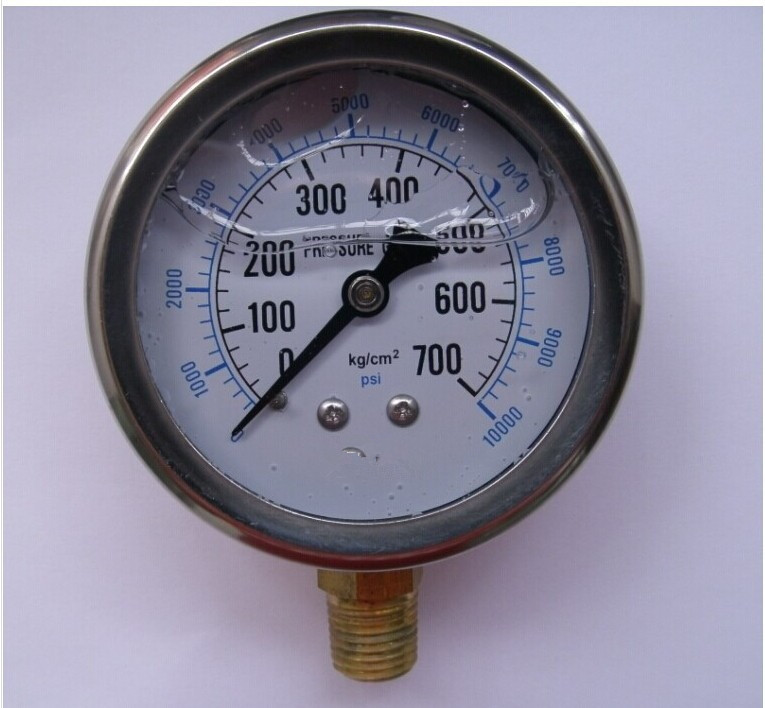 700 10000 - 2020 2.4 60MM Hydraulic Pressure Gauge Meter 700KG 10000psi 1/4PT