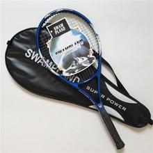 Carbon Fiber Tennis Racket with Bag High Quality Antiskid Racquet Tennis Match Summer Fitness Sport Equipment for Men Woman