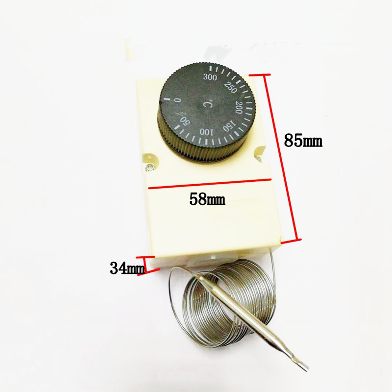 (1)Capillary Thermostat For Electrical Device Knob Temperature Mechanical Switch