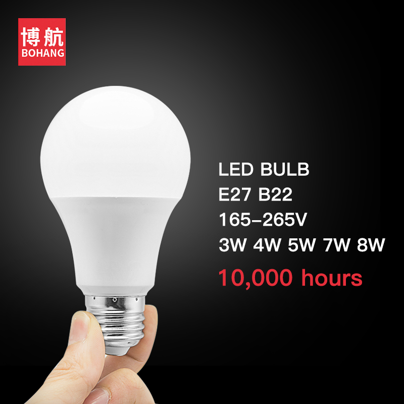 LED Bulb Lamps E27 B22 220V Light Bulb Smart IC Real Power 3W 4W 5W 7W 8W High Brightness Lampada LED Bombillas