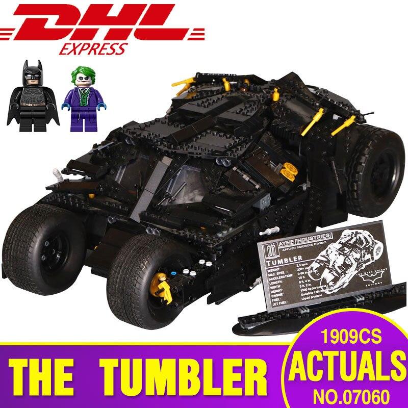 DHL 07060 Genuína Super Herói Brinquedos Série 76023 Batman Blindado Carro Conjunto Educacional Tijolo Bloco de Construção de Montagem de Brinquedos do miúdo