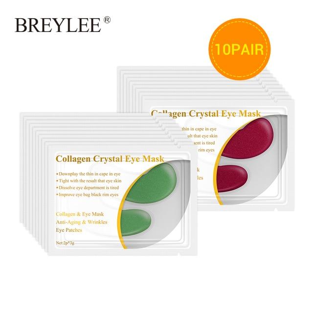 BREYLEE Collagen Eye Serum Rye Mask Anti Fat Granule Crystal Eye Patch Face Skin Care Remove