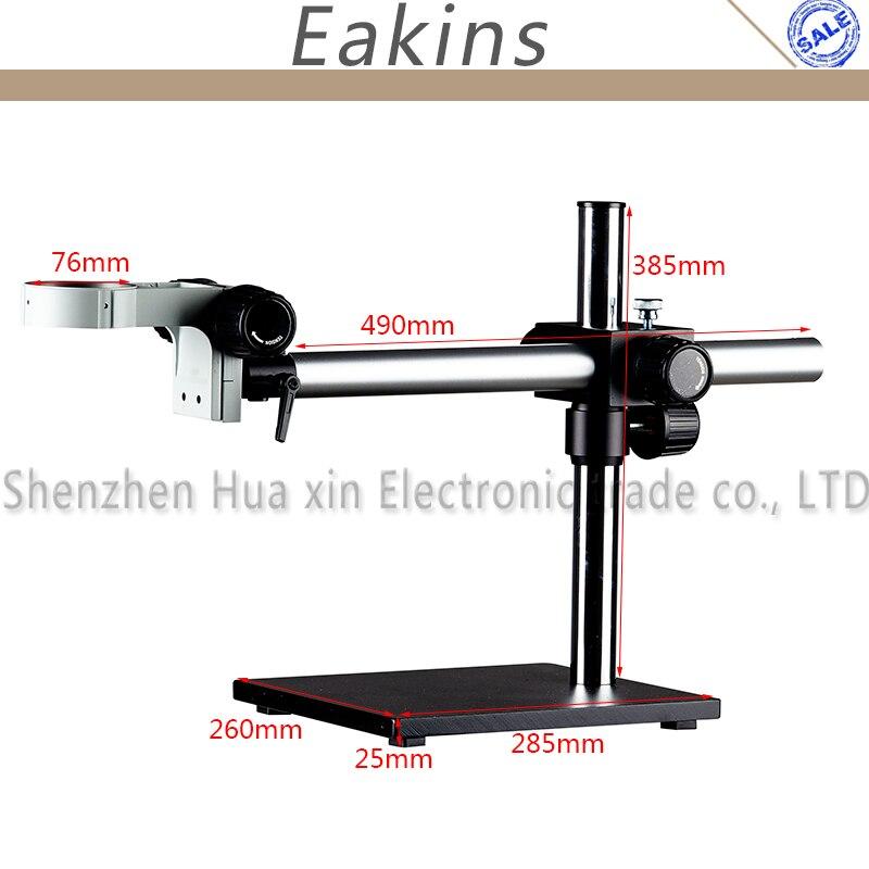 EAKINS 7-45X support à flèche unique Zoom Microscope stéréo binoculaire 144 LED éclairage Microscopio anneau lumière - 3