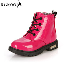 Children boots autumn winter waterproof Martin boots 2018 children shoes boys amp girls boots kids shoes 1 #8211 12 years old CSH043 cheap 2-3Y 4-6Y 7-9Y 19-24M 10-12Y 13-18M Synthetic Ankle Rubber Lace-Up Unisex BeckyWalk Rome Flat with Round Toe Fashion Boots